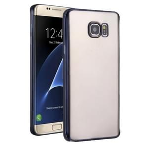 For Samsung Galaxy S7 Edge/G935 Plating Soft TPU Protective Cover Case (Black)