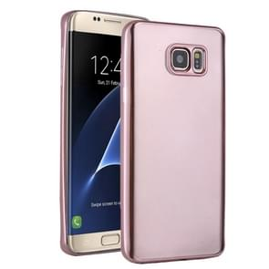 For Samsung Galaxy S7 Edge/G935 Plating Soft TPU Protective Cover Case (Rose Gold)
