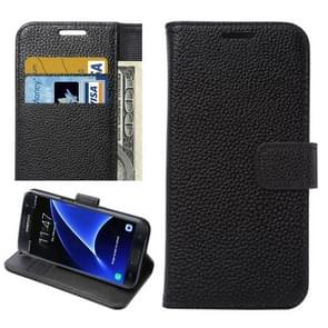 For Samsung Galaxy S7 Edge/ G935 Litchi Texture Horizontal Flip Leather Case with Holder & Card Slots & Wallet  (Black)