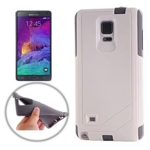 TPU PC Combination Case for Samsung Galaxy Note 4 / N910 (White and Grey)