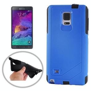 TPU PC Combination Case for Samsung Galaxy Note 4 / N910 (Dark Blue)