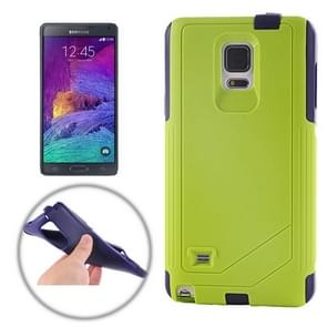 TPU PC Combination Case for Samsung Galaxy Note 4 / N910 (Dark Blue and Green)