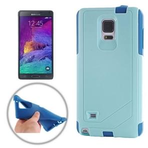 TPU PC Combination Case for Samsung Galaxy Note 4 / N910 (Blue)