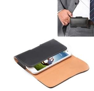 Crazy Horse Texture Vertical Flip Leather Case / Waist Bag with Back Splint and Arch Design for Samsung Galaxy S4 / i9500