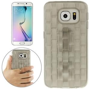 For Samsung Galaxy S6 edge / G925 Ice Sculptures TPU Protective Case with Handle (Grey)
