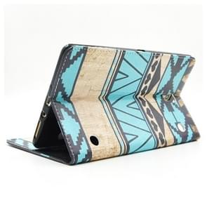 Ethnic Pattern Cross Texture Leather Case with Holder & Card Slots & Wallet for Samsung Galaxy Tab S 8.4 / T700