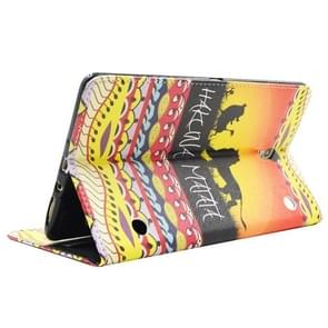 HAKUNAMATATA Pattern Cross Texture Leather Case with Holder & Card Slots & Wallet for Samsung Galaxy Tab S 8.4 / T700