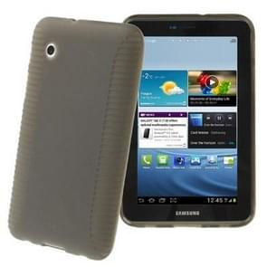 Non-slip Texture TPU Case for Samsung Galaxy Tab 2 (7.0) / P3100, Dark Grey