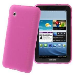 Non-slip Texture TPU Case for Samsung Galaxy Tab 2 (7.0) / P3100, Magenta(Magenta)