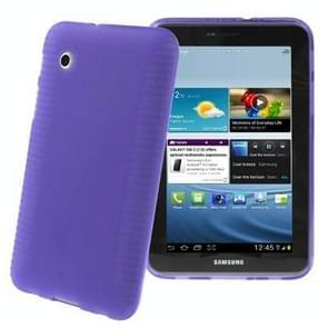 Non-slip Texture TPU Case for Samsung Galaxy Tab 2 (7.0) / P3100, Purple(Purple)