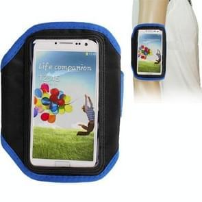 Sports Armband Case for Samsung Galaxy S IV / i9500 (Blue)