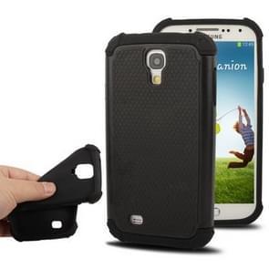 Plastic + Silicon Combination Case for Samsung Galaxy S IV / i9500 (Black)