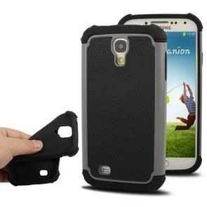 Plastic + Silicon Combination Case for Samsung Galaxy S IV / i9500 (Grey)
