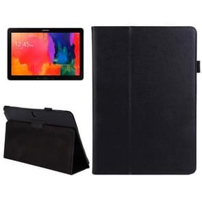 2-folding Litchi Texture Flip Leather Case with Holder for Samsung Galaxy Note & Tab Pro 12.2 / P900(Black)