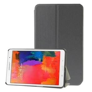 Frosted Texture Flip Leather Case with Holder for Samsung Galaxy Tab Pro 8.4 / T320(Grey)