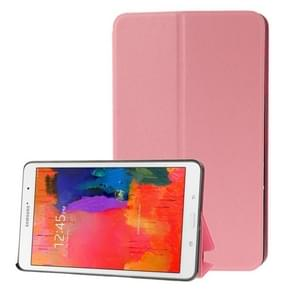 Frosted Texture Flip Leather Case with Holder for Samsung Galaxy Tab Pro 8.4 / T320(Pink)