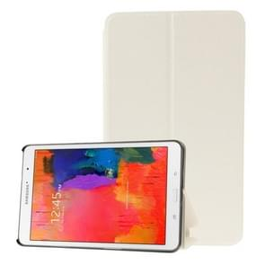 Frosted Texture Flip Leather Case with Holder for Samsung Galaxy Tab Pro 8.4 / T320(White)