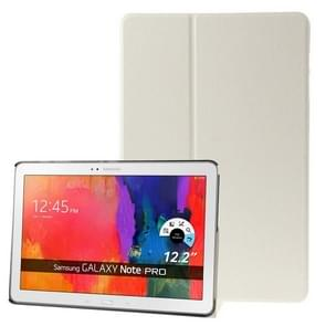 Frosted Texture Flip Leather Case with Holder for Samsung Galaxy Note & Tab Pro 12.2 / P900 / T900(White)