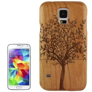Woodcarving Tree Pattern Detachable Myrtus Material Case for Samsung Galaxy S5 / G900