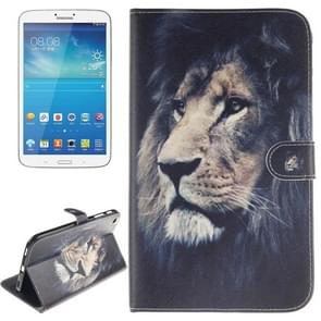Lion Pattern Leather Case with Holder & Card Slots & Wallet for Samsung Galaxy Tab 3 8.0 / T310