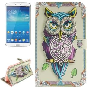 Owl Pattern Leather Case with Holder & Card Slots & Wallet for Samsung Galaxy Tab 3 8.0 / T310