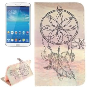 Dreamcatcher Windbell Pattern Leather Case with Holder & Card Slots & Wallet for Samsung Galaxy Tab 3 8.0 / T310