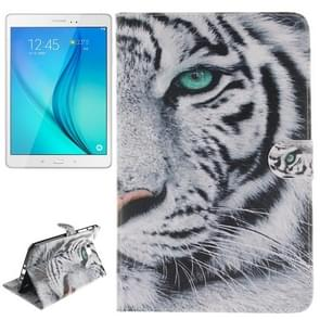 Tiger Pattern Leather Case with Holder & Card Slots & Wallet for Samsung Galaxy Tab A 8.0 / T350