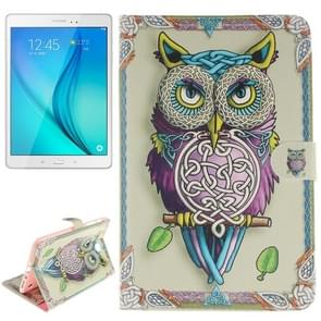Owl Pattern Leather Case with Holder & Card Slots & Wallet for Samsung Galaxy Tab A 8.0 / T350