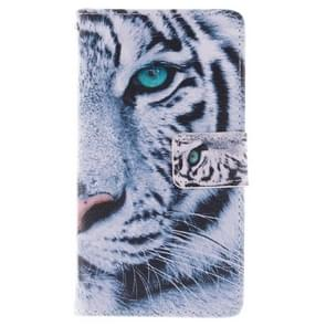 Tiger Pattern Horizontal Flip Leather Case with Holder & Card Slots & Wallet for Samsung Galaxy S IV / i9500