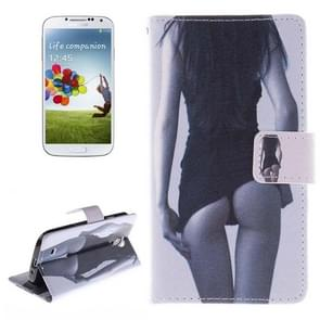 Sexy Lady Pattern Horizontal Flip Leather Case with Holder & Card Slots & Wallet for Samsung Galaxy S IV / i9500