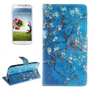 Flower Pattern Horizontal Flip Leather Case with Holder & Card Slots & Wallet for Samsung Galaxy S IV / i9500