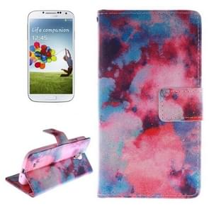 Abstract Iridescent Pattern Horizontal Flip Leather Case with Holder & Card Slots & Wallet for Samsung Galaxy S IV / i9500