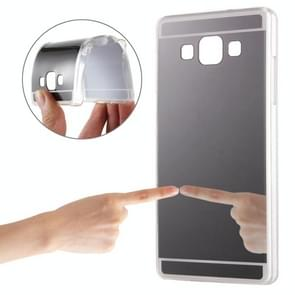 For Samsung Galaxy A8 / A800 Electroplating Mirror TPU Protective Case (Black)