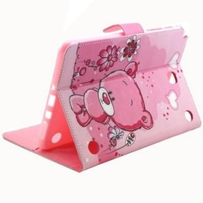 Cartoon Bear Pattern Horizontal Flip Leather Case with Holder & Card Slots & Wallet for Samsung Galaxy Tab A 8.0 / T350