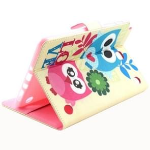Couple Owl Pattern Horizontal Flip Leather Case with Holder & Card Slots & Wallet for Samsung Galaxy Tab A 8.0 / T350
