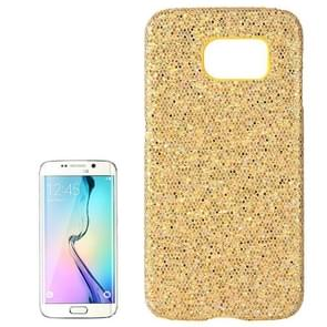 For Samsung Galaxy S6 / G920 Flash Powder Skin Paste Plastic Protective Case (Yellow)