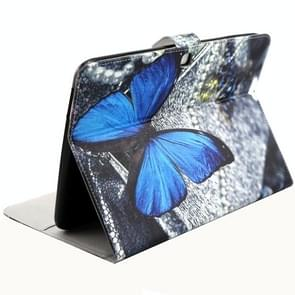 Blue butterfly Pattern Horizontal Flip Leather Case with Holder & Card Slots & Wallet for Samsung Galaxy Tab 4 10.1 / T530