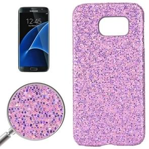 For Samsung Galaxy S7 / G930 Fashionable Flash Powder Back Cover Case (Light Purple)