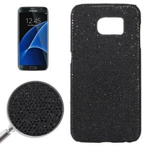 For Samsung Galaxy S7 / G930 Fashionable Flash Powder Back Cover Case (Black)