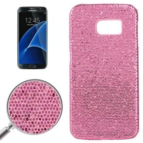 For Samsung Galaxy S7 / G930 Fashionable Flash Powder Back Cover Case (Watery Red)