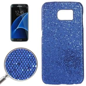 For Samsung Galaxy S7 / G930 Fashionable Flash Powder Back Cover Case (Dark Blue)
