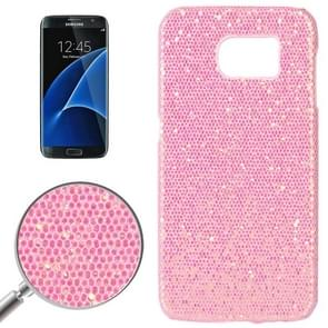 For Samsung Galaxy S7 / G930 Fashionable Flash Powder Back Cover Case (Pink)