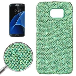 For Samsung Galaxy S7 / G930 Fashionable Flash Powder Back Cover Case (Green)