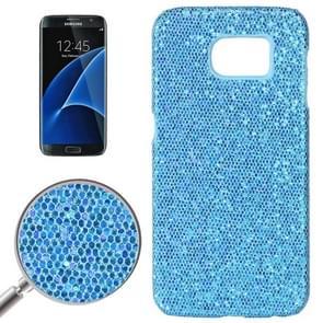 For Samsung Galaxy S7 / G930 Fashionable Flash Powder Back Cover Case (Blue)