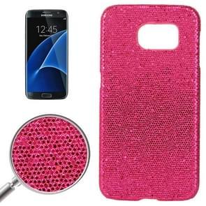 For Samsung Galaxy S7 / G930 Fashionable Flash Powder Back Cover Case (Magenta)
