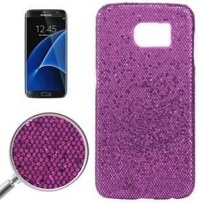 For Samsung Galaxy S7 / G930 Fashionable Flash Powder Back Cover Case (Purple)