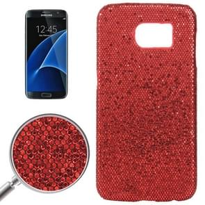 For Samsung Galaxy S7 / G930 Fashionable Flash Powder Back Cover Case (Red)
