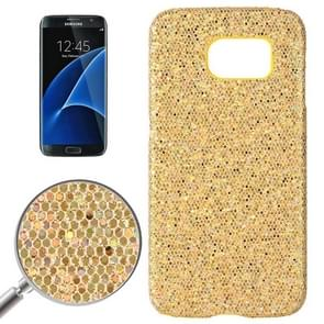 For Samsung Galaxy S7 / G930 Fashionable Flash Powder Back Cover Case (Yellow)