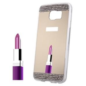 For Samsung Galaxy S6 Edge+ / G928 Diamond Encrusted Mirror TPU Protective Case (Gold)