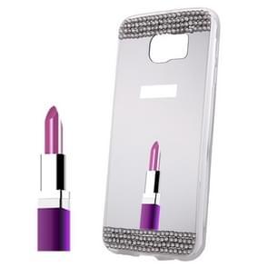 For Samsung Galaxy S6 Edge+ / G928 Diamond Encrusted Mirror TPU Protective Case (White)